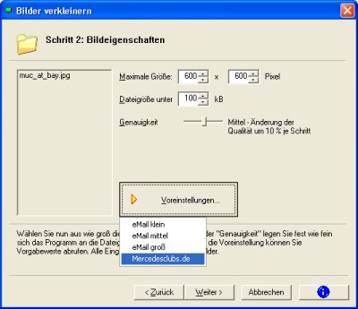 Screenshot für Image Resize!